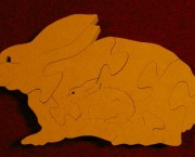Rabbit with Baby inside Puzzle