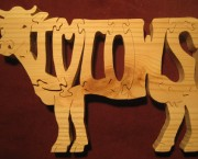 I Love Cows - Name Puzzle