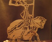 Horse with Knight carring Banner