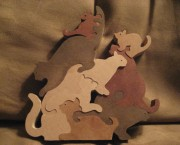 Mountain of Cats Puzzle (Stained)