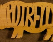 Potbelly Pig - Name Puzzle