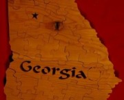 State of Georgia Wooden Puzzle