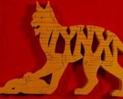 Lynx with Prey - Name Puzzle